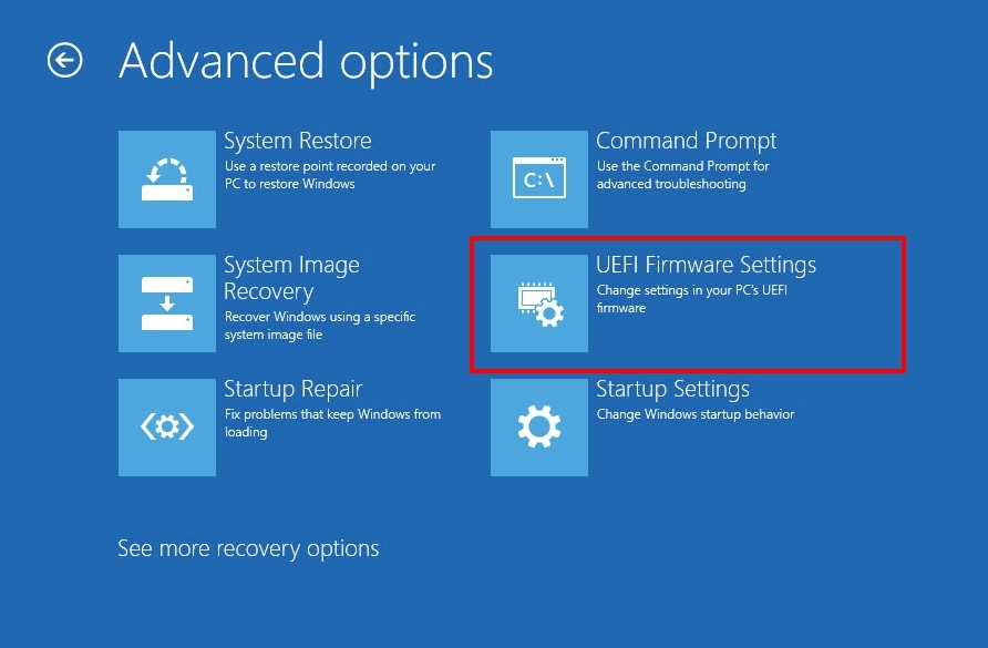 windows 11 uefi firmware settings