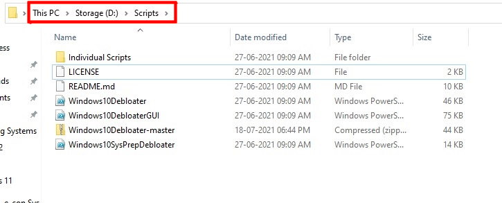 windows debloater scripts